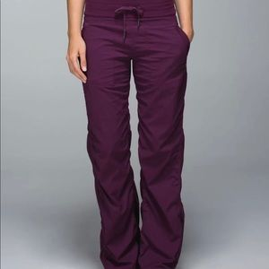 Lululemon Dark Plum Purple Dance Studio Pants